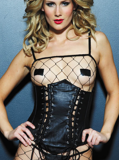17012 Leather Underbust Lace Up Corset product image