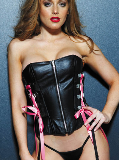 17495 Leather Ribbon Corset product image