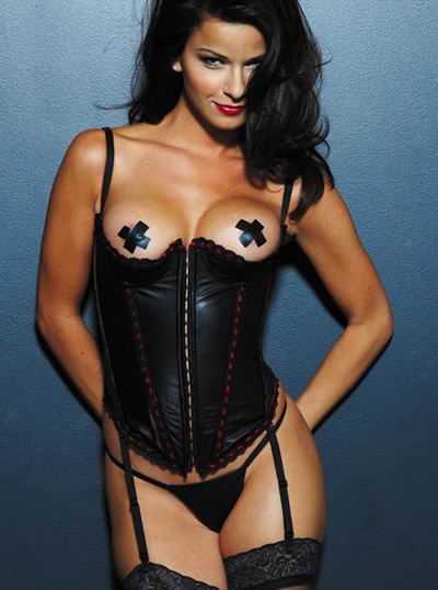 17497 Quarter Cup Leather Corset product image