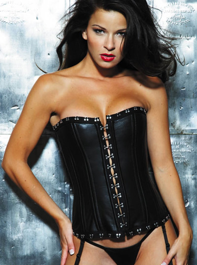 17839 Leather and Metal Hook and Eye Corset product image