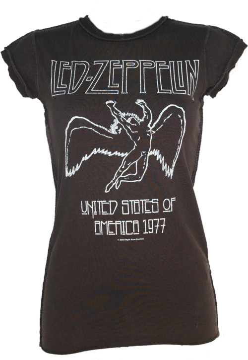 1887 Ladies Led Zeppelin USA 1977 T-Shirt from Amplified Vintage