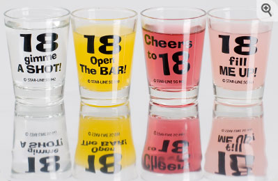 18th Birthday Shot Glasses - review, compare prices, bu