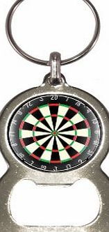 1StopShops Dart Board Design Bottle Opener Keyring