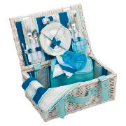 2 Person Picnic Basket, Coastal Stripe