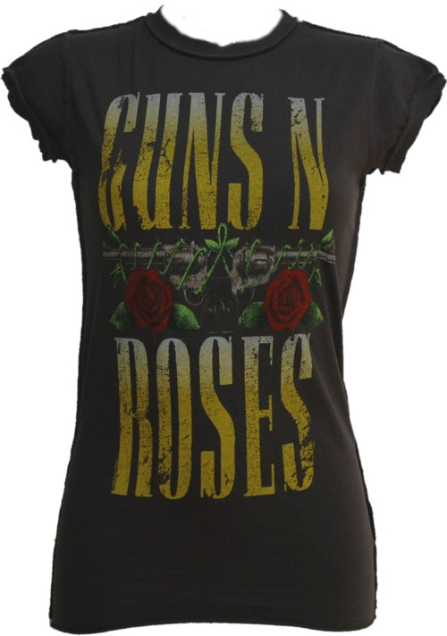 Ladies Guns N Roses Pistols T-Shirt from Amplified Vintage