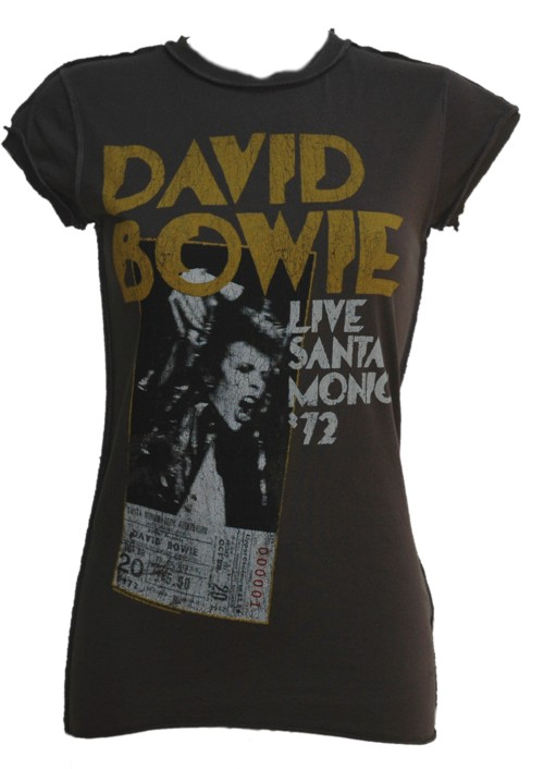 Ladies David Bowie Santa Monica T-Shirt from Amplified Vintage