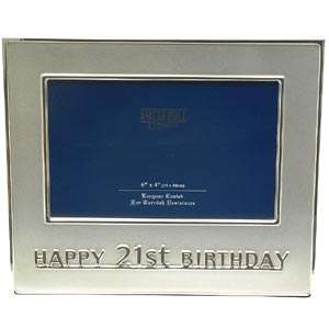 21st Birthday Photo Frame (Silver) product image