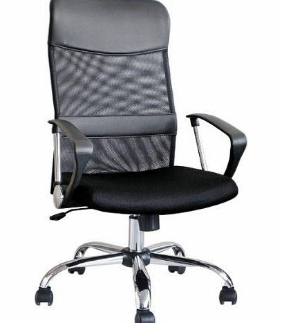 247Seating Brand New Modern Black Ergonomic Mesh Fabric Office Desk