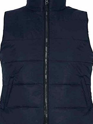 2786 Womens Body Warmer Versatile Two Zip Closed Front Pockets 2786 (Navy, XX-Large)