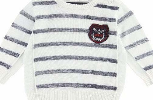 3Pommes Baby Boys Knitted Sweater White 12 months