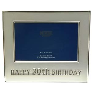 This modern style Happy 30th Birthday photo frame makes a great gift for a very special birthday.Aro - CLICK FOR MORE INFORMATION