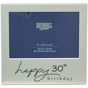 This Happy 30th Birthday photo frame is a fabulous keepsake gift idea for that very special birthday - CLICK FOR MORE INFORMATION