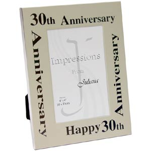30th Wedding Anniversary Aluminium Photo Frame