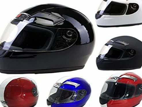 3GO Motorbike Motorcycle Helmets 3GO E35 Scooter Helmets Crash Touring Racing Helmets New Colours (L, BLUE)