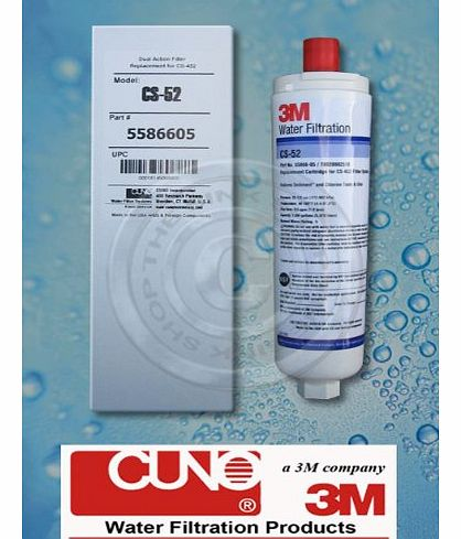 3M-CUNO 3M CUNO CS-52 FILTER CARTRIDGE for BOSCH, NEFF, SIEMENS FRIDGES/FREEZERS & ABODE AQUIFIER COMPATIBLE product image