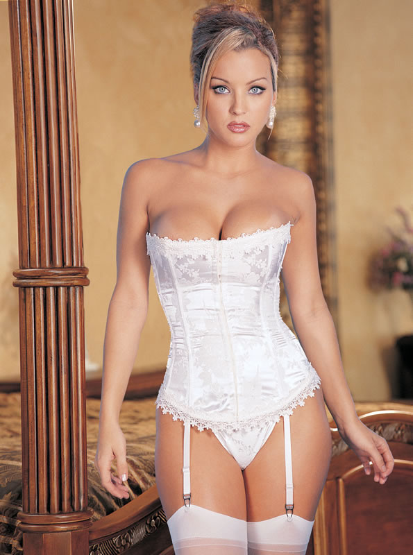 Fully reversible Zebra print/pink satin corset with front lace-up removable ...