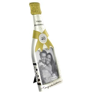Champagne Bottle Photo Frame