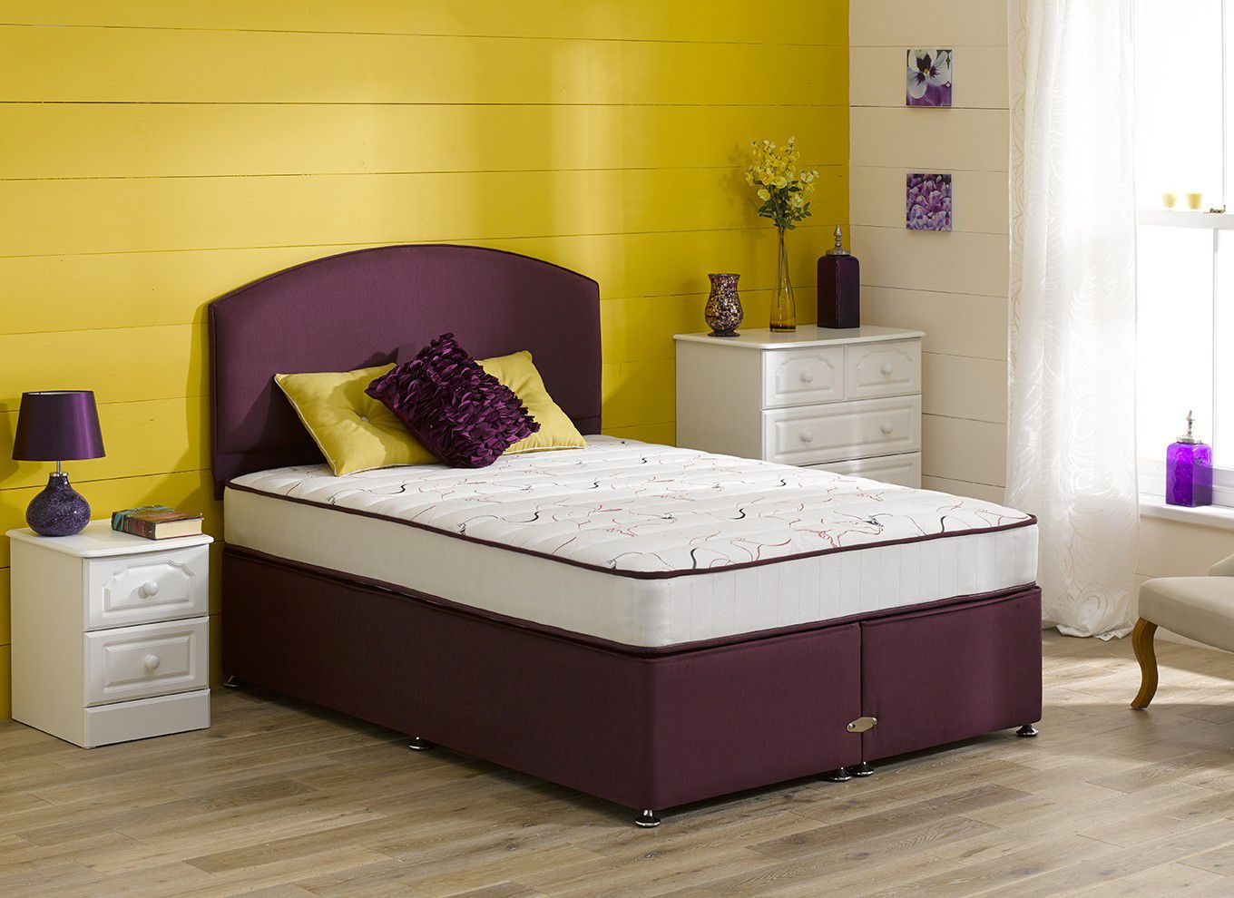 4 6 double divan beds for Double divan bed with firm mattress