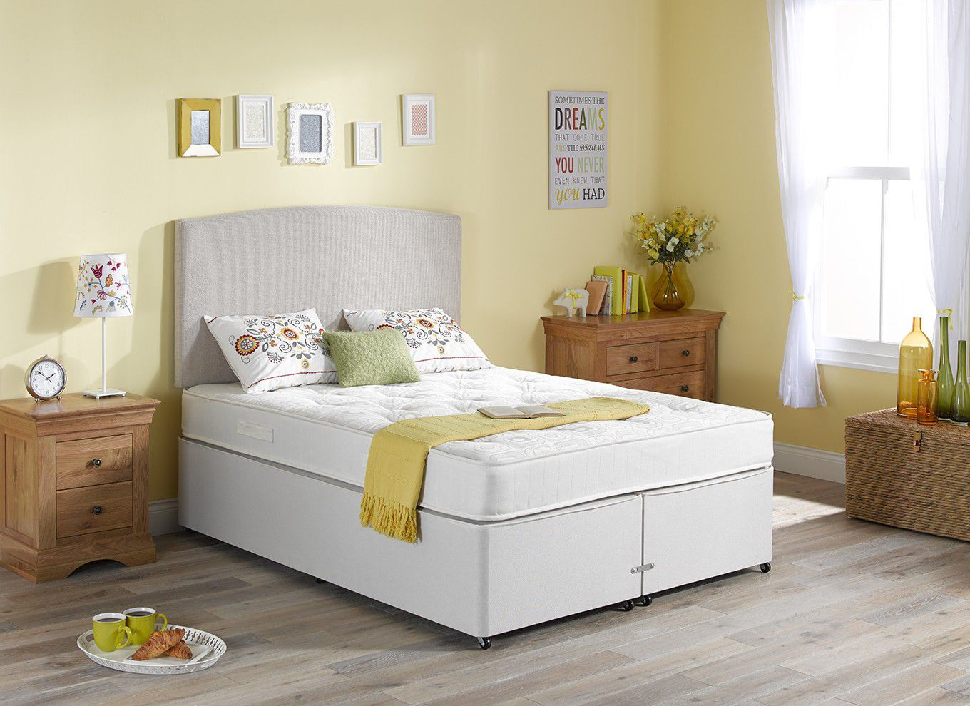 Compare prices of divan beds read divan bed reviews buy for Double divan bed with firm mattress