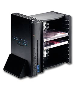 4gamers v stand 12 dvd storage unit playstation accessorie review compare prices buy online. Black Bedroom Furniture Sets. Home Design Ideas