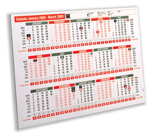 2008 Wall or Desk Calendar Double-sided