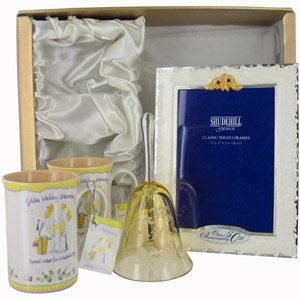 Golden Wedding Anniversary Gift Ideas Uk : 50th Golden Wedding Anniversary Gifts Pack 2 - review, compare prices ...