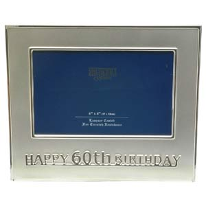 60th Birthday Photo Frame (Silver) product image