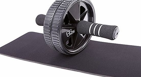 66fit Ab Roller Wheel amp; Knee Pad - Abs Core Abdominal Workout Fitness Exerciser