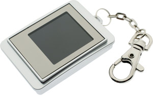 7dayshop.com LCD Digital Photo Frame - 1.5 Keyring Version - Silver Colour