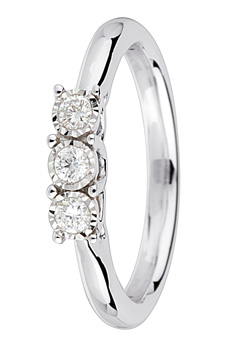 9ct Gold 0.15ct Brilliant Cut Diamond Ring