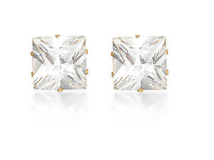 10mm Cubic Zirconia Earrings 073003