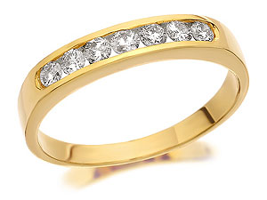 9ct Gold AChannel Set Diamond Half Eternity