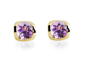 Amethyst Solitaire Earrings 070207