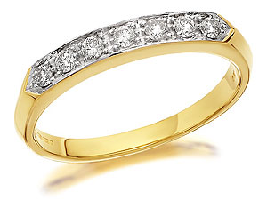 9ct Gold And Diamond Half Eternity Ring 0.25ct