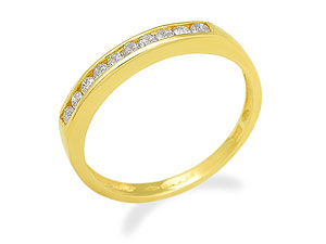 9ct gold and Diamond Half Eternity Ring 048002-Q