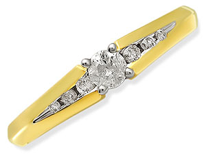 9ct gold and Diamond Ring 045102-K