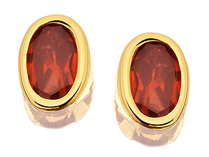 and Garnet Earrings 070451