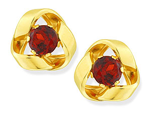 and Garnet Knot Earrings 070925