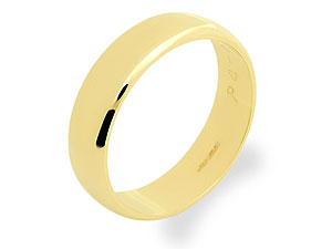 9ct Gold Brides Wedding Ring 5mm - 181101