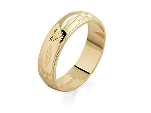 9ct Gold Brides Wedding Ring 5mm - 184381 product image