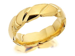 9ct Gold Brides Wedding Ring 5mm - 184389