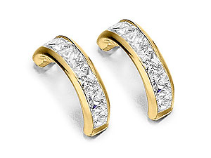 Channel Set Cubic Zirconia Half Hoop