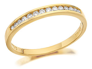 9ct Gold Channel Set Diamond Half Eternity Ring product image