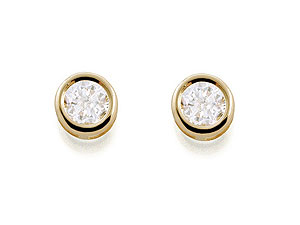 Cubic Zirconia Birthstone Earrings -