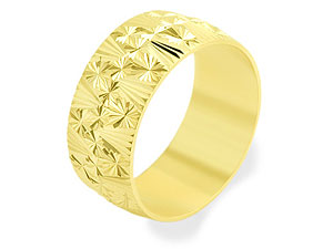 9ct Gold Diamond Cut Brides Wedding Ring 8mm - product image