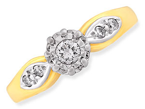 9ct gold Diamond Ring 045109-Q