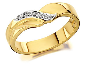 9ct Gold Diamond Set Wedding Ring 4mm - 184426 product image