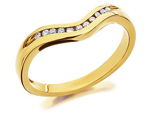 9ct Gold Diamond Wishbone Brides Wedding Ring