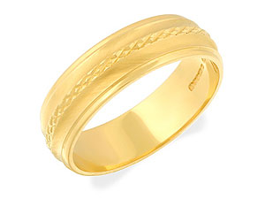 9ct gold Grooved Grooms Wedding Ring 184246-Y product image