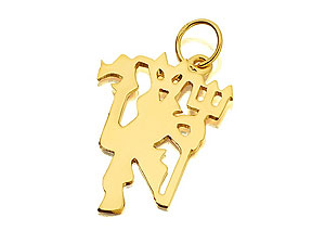 9ct gold Manchester United Red Devil Pendant product image